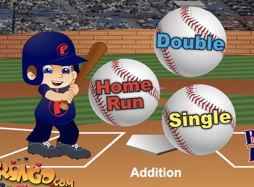 Image Baseball Math Game